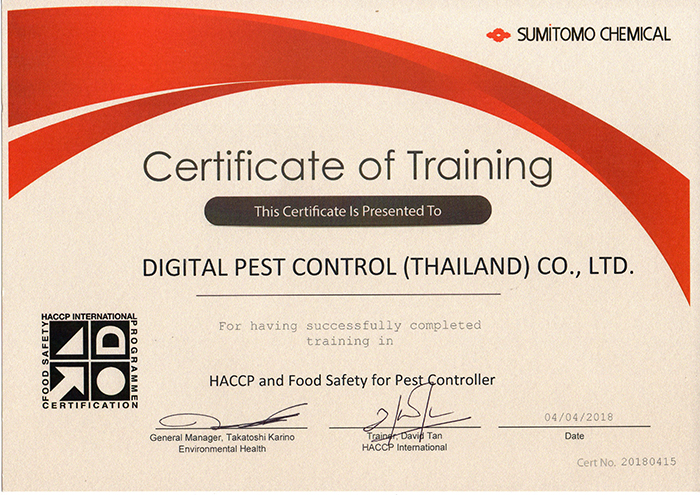 HACCP and Food Safety for Pest Controller